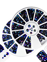 2pcs/set Fashion Montana&Laser Flame Mixed Size Shining Resin Jelly Rhinestone Decoration Nail Art Round Disc Glitter Rhinestone DIY Beauty Decoration