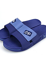 Men's Slippers & Flip-Flops Comfort Couple Shoes PVC Spring Casual Blue Brown Gray Flat