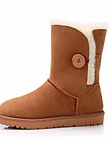 Women's Boots Comfort PU Suede Spring Casual Comfort Camel Light Yellow Gray Flat