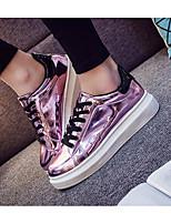 Women's Sneakers Comfort PU Spring Casual Fuchsia Silver Gold Flat
