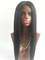 100% Virgin Brazilian Human Hair Full Lace Wigs With Baby Hair Silky Straight Glueless Lace Wigs For Black Women