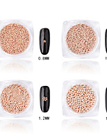 Rose Gold Metal Ball Nail Art Decoration Rhinestone Pearls Makeup Cosmetic Nail Art Design (1.5mm)