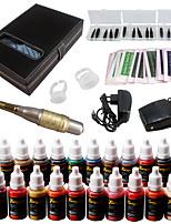Solong Tattoo Augenbraue Kit dauerhafte Make-up Maschine Tattoo 23 Tinte Nadel ek709-4