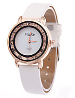 Women's Fashion Watch Quartz PU Band Black White Red Brown Pink