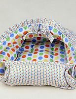 Dog Bed Pet Mats & Pads Polka Dot Keep Warm Soft Elastic Blue Blushing Pink