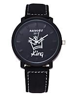 Мужской Женские Модные часы Кварцевый Кожа Группа Повседневная Черный Коричневый