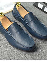 Men's Loafers & Slip-Ons Leather Nappa Leather Pigskin Spring Black Yellow Blue Flat