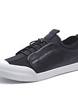 Men's Sneakers Light Soles Leather Spring Summer Casual Outdoor Walking Light Soles Flat Heel Black Flat