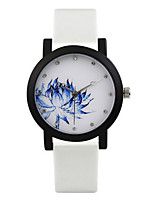 Women's Men's Fashion Watch Quartz Water Resistant / Water Proof Leather Band White