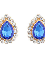 Euramerican Droplets Classic Elegant  Luxury  Rhinestone Gem Women's Party Stud Earrings Movie Jewelry