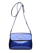 Women Shoulder Bag Patent Leather All Seasons Formal Casual Event/Party Wedding Office & Career Saddle Snap Purple Black Gold Blue
