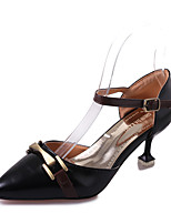 Women's Heels  Polyester Summer Party/ Evening Office/Career  Stiletto Heel Ruby Beige Black 2in-2 3/4in