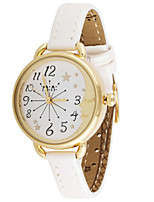 Women's Fashion Watch Quartz Leather Band White