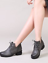 Women's Boots Comfort Real Leather PU Spring Casual Comfort Flat