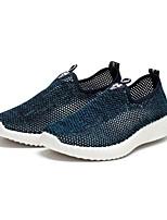 Men's Loafers & Slip-Ons Comfort Tulle Spring Summer Casual Comfort Flat Heel Gray Black Flat
