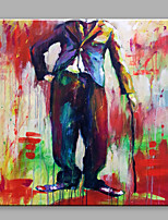 Oil Painting Abstract Comic Men Without Head Framed Handmade Oil Painting For Home Decoration