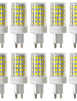 YWXLight® Dimmable 10pcs G9 10W 86LED 2835SMD 850-950 Lm Warm White/Cool White/Natural White LED Ceramics Lamp AC 220-240V