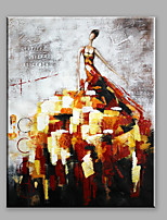 Abstract Oil Painting A Modern Woman In A Creative Dress Framed Handmade Oil Painting For Home Decoration