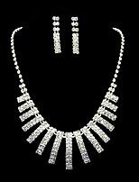 Set de Bijoux Strass Bijoux de Luxe Strass Alliage 1 Collier 1 Paire de Boucles d'Oreille Pour Mariage Soirée Anniversaire 1 SetCadeaux