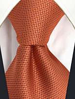 CXL16 Extra Long New Handmade Unique For Mens Ties Orange Solid 100% Silk Fashion Dress Casual