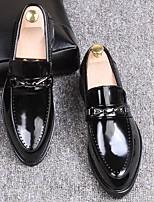 Для мужчин Мокасины и Свитер Удобная обувь Тюль Полиуретан Весна Повседневный Черный Синий Вино Менее 2,5 см