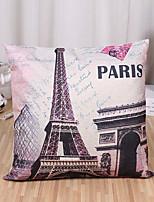 1 Pcs Classic Paris Eiffel Tower Printing Pillow Case Square Pillow Cover 45*45Cm