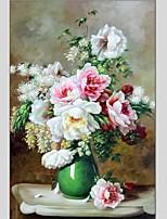 Ručně malované ZátišíAbstraktní Jeden panel Plátno Hang-malované olejomalba For Home dekorace