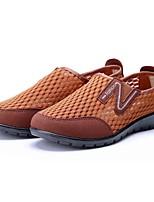 Для женщин Мокасины и Свитер Удобная обувь Тюль Весна Лето Повседневные Для прогулок Удобная обувь На плоской подошвеКоричневый