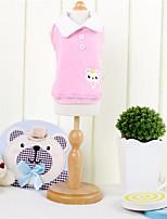 Chien Tee-shirt Vêtements pour Chien Bleu Rose