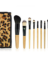 1set Makeup Brush Set Synthetic Hair Portable Full Coverage Wood Face Eye Lip