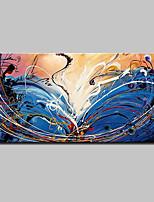 Peint à la main Abstrait Horizontale,Moderne Style européen Un Panneau Toile Peinture à l'huile Hang-peint For Décoration d'intérieur