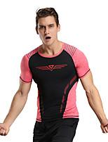 Homme Course / Running Tee-shirt Hauts/Tops Séchage rapide Respirable Doux Compression Confortable Toutes les Saisons Vêtements de sport