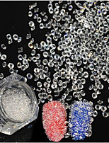 600pcs New Fashion Double Head Nail Art Shining Crystal White Rhinestone DIY Beauty Glitter Crystal Rhinestone Diamond Decoration