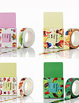 Creative DIY Multicolor Cartoon Decorative Album Stickers & Tapes 15MM*10M 1PC