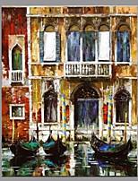 Handgemalte Landschaft Retro Ein Panel Leinwand Hang-Ölgemälde For Haus Dekoration