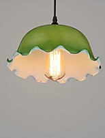Modern Contracted Green Wave Side Glass Chandelier Sitting Room Coffee Bar Droplight