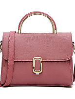 Women Tote PU All Seasons Casual Outdoor Office & Career Shell Clasp Lock Purple Gray Blushing Pink Red Black