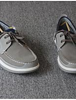 Для мужчин Мокасины и Свитер Удобная обувь Полотно Весна Осень Повседневный На танкетке Серый 2,5 - 4,5 см
