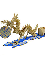 Jigsaw Puzzles 3D Puzzles Building Blocks DIY Toys Dragon Wood Model & Building Toy