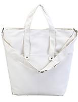 Damen Umhängetasche Leinwand Ganzjährig Normal Einkaufstasche Magnetisch Blau Weiß