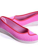 Da donna Sneakers Tessuto Primavera Bianco Rosa Schermo a colori Piatto
