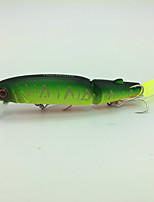 F# Green  1 pcs Hard Bait Minnow Hard Bait Minnow 13g g/1/2 oz. Ounce113mm mm/4-1/2 inchSoft Plastic Metal Hard Plastic Steel WireBait