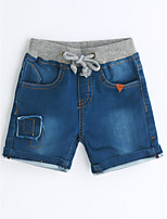 Boys' Solid Color Solid Jeans-Cotton Summer