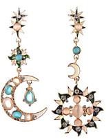 Per donna Da ragazza Orecchini a bottone Orecchini a goccia Opale StrassClassico Circolare Originale Amicizia Vintage stile della Boemia