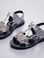 Girls' Sandals First Walkers PU Spring Fall Casual First Walkers Magic Tape Flat Heel Silver Gold Flat