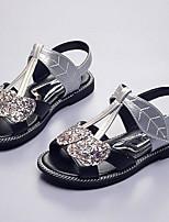Fille Sandales Premières Chaussures Polyuréthane Printemps Automne Décontracté Premières Chaussures Scotch Magique Talon Plat Or Argent