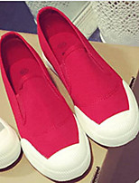 Men's Flats Comfort Canvas Tulle Spring Casual White Black Ruby Flat