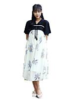 Outfits Wa Lolita Vintage Inspired Cosplay Lolita Dress Vintage Short Sleeve Tea-length For