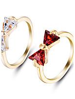 Кольцо Обручальное кольцо Цирконий Мода Простой стиль Elegant Драгоценный камень Цирконий Круглой формы Бижутерия ДляСвадьба Для