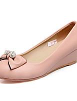 Damen Loafers & Slip-Ons Komfort Leuchtende Sohlen Kunstleder Sommer Herbst Normal Kleid Komfort Leuchtende Sohlen Strass Schleife